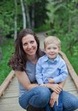 Mom with toddler boy Stock Photography