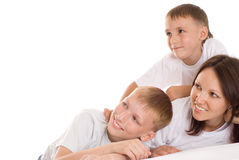 Mom with two children Royalty Free Stock Photography