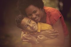 Mom will love you forever stock images