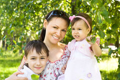 Mom With Her Children Stock Image