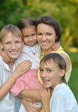 Mom With Kids Royalty Free Stock Photo