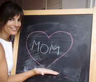 mom word on blackboard Royalty Free Stock Photography