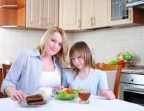 Mom and young daughter Royalty Free Stock Photo