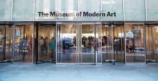 Moma entrance in New York Stock Photo