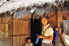 Moman ethinic locale e bambini Immagine Stock Libera da Diritti