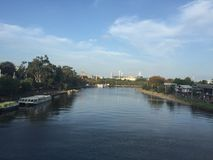 Momba festiwal - widok od Yarra rzeki obraz stock