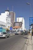 Mombasa Business District, Kenya, editorial. Mombasa, Kenya - February 18: Modern business district on Moi Avenue in Mombasa, Kenya on February 18, 2013 Royalty Free Stock Photos