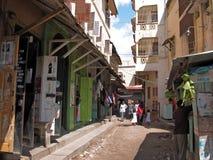mombasa gammal town Arkivbilder