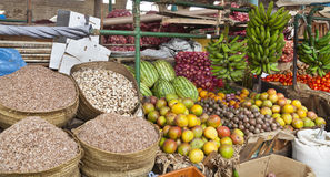 Mombasa Market, Kenya. Market detail with fruit and vegetables in the old town of Mombasa, Kenya Stock Image