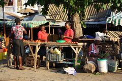 Mombasa marknad Arkivfoto