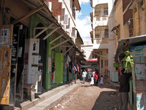 Mombasa Old Town. Street scene in Mombasa Old Town. Photo taken on: November 22, 2007 in Mombasa, Kenya Stock Images