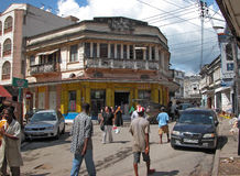 Mombasa Old Town. Street scene in Mombasa Old Town. Mombasa features a smattering of styles and traditions common to coastal Swahili villages and late 19th Royalty Free Stock Images