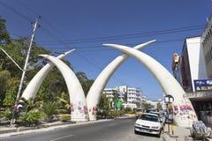 Mombasa-Stoßzähne, Kenia, redaktionell Lizenzfreie Stockbilder