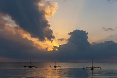 Mombasa sunrise. Over the Indian Ocean Royalty Free Stock Photography