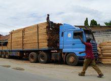 Mombasa truckers Stock Photo