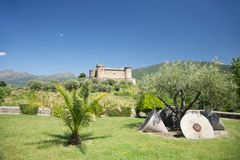 Mombeltran castle scenic Royalty Free Stock Photography