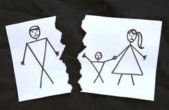 Mome с чертежом отца развода сына бесплатная иллюстрация