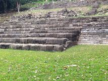 Moment av Maya Ruins på Lubaantun i Belize Arkivbild