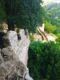 Moment av slotten som ses från över Arkivbild