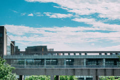 Moment av undervisningbyggnad Arkivfoto