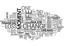 A Moment Can Change A Life Word Cloud Stock Image