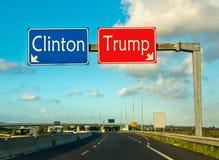 The moment of choice, Clinton ot Trump Stock Photo