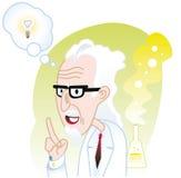Moment d'Eureka du scientifique Image libre de droits