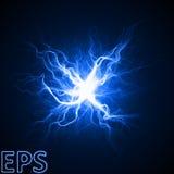 Moment d'explosion magique d'énergie veines d'énergie de centre illustration de vecteur