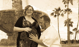 Moment de grossesse Images stock