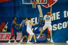 Moment de jeu d'un match de basket photos libres de droits