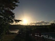 Moment de Namaste de l'étang du nord d'Oxford photo stock
