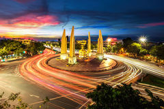 Moment of Democracy monument at Dusk. (Bangkok, Thailand royalty free stock photos