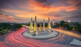 Moment of Democracy monument. At Dusk (Bangkok, Thailand royalty free stock photography