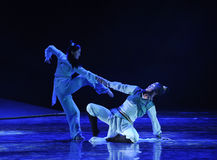 In a moment of desperation -The dance drama The legend of the Condor Heroes Royalty Free Stock Photo