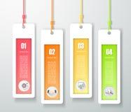 Moment för mall 4 för design infographic, Royaltyfri Fotografi