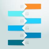 Moment 1 för punkt för Infographic vektorpil till 6 mall A royaltyfri illustrationer