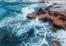 Moment gelé une tempête en mer Images libres de droits