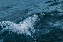 Moment gelé une tempête en mer Photos stock