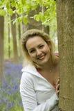 Moment heureux dans un bois Photographie stock