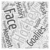 A Moment in Hockey History The Face Mask word cloud concept vector background Royalty Free Stock Photography