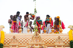 Moment of indian temple opening ceremony Royalty Free Stock Images