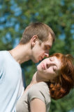 Moment of love Royalty Free Stock Photo