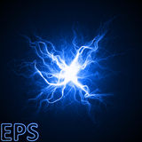 Moment of magical energy explosion. energy veins from center Stock Photos