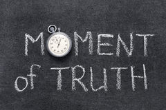 Free Moment Of Truth Royalty Free Stock Photography - 59585367