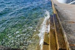 Moment på Adriatiskt havet Arkivbild