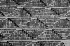 Moment på Chand Baori Stepwell i Rajasthan, Indien Arkivfoton