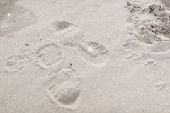 Moment på en sand Royaltyfri Foto