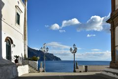 A piece of landscape in Atrani, in the Amalfi coast in Italy. stock images