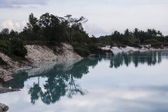Moment before raining, November 2014. An awesome lake at West Sumatra Stock Image