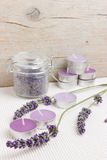 Moment of relaxation with lavender Stock Images